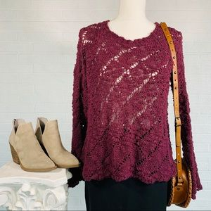 KENDALL & KYLIE Sweater - Burgundy - Small